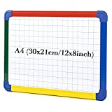 SwanSea Niños Junta de planificación Combinación magnética secar Wipe Whiteboard con marco de colores, 30 x21cm