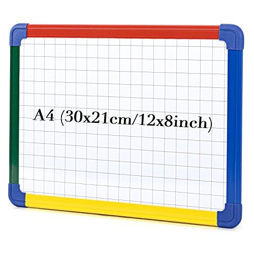 rtafel Magnettafel Whiteboard Kunststoffrahmen magnetisch 30x21 cm (Transparente Dry Erase Board)