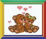 Happy Bee Kit de Iniciación de Punto de Cruz Amor de Osos