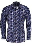 OLYMP No. Six super Slim Hemd extra Langer Arm Muster blau Größe 43