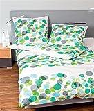 Janine cotone Seersucker biancheria da letto 4pezzi copripiumino 155x 220cm federa 80x 80cm Tango punti verde turchese