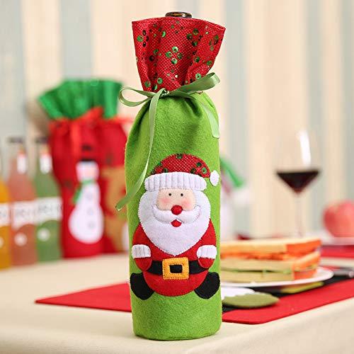 ante Weinflaschen-Stickerei mit Pailletten für Zuhause, Party, Restaurant, Hotel, Abendessen, Tischdekoration Old Man ()
