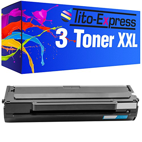 PlatinumSerie 3x Toner compatibile con Samsung MLT-D1042S 7.500 pagine ML-1660 ML-1660 K ML-1660 N ML-1660 Series ML-1661 K ML-1665 ML-1665 K ML-1666 ML-1670 ML-1672 ML-1674