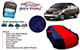 Auto Pearl - 100% Waterproof Tripple Stich Premium Red&Blue Matty Car Body Cover with Buckle Belt , Carry Bag For - Tata Indigo