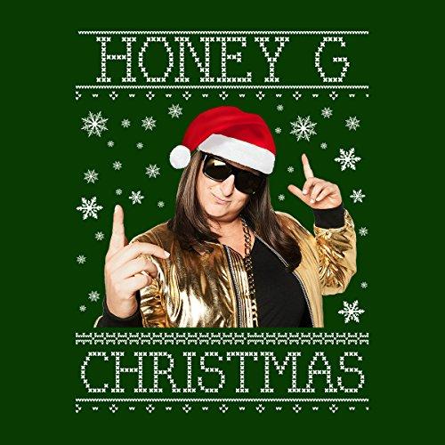 Honey G Christmas Knit Women's Hooded Sweatshirt Bottle Green
