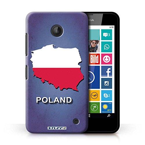 Kobalt® Imprimé Etui / Coque pour Nokia Lumia 635 / Lituanie/Lituanien conception / Série Drapeau Pays Pologne/Polonais