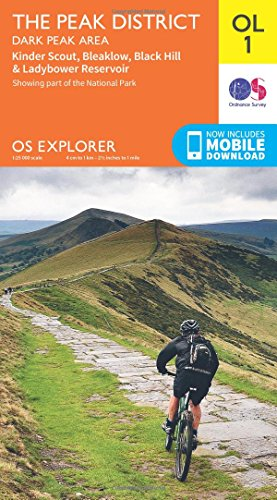 OS Explorer OL1 The Peak District, Dark Peak area (OS Explorer Map) Test