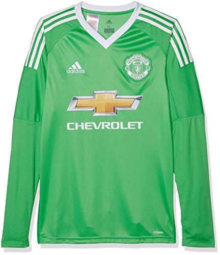 adidas Kinder Mufc A GK Jsy Y Trikot, Energy Green s17/White, 164 (United Manchester Torwart Trikot)