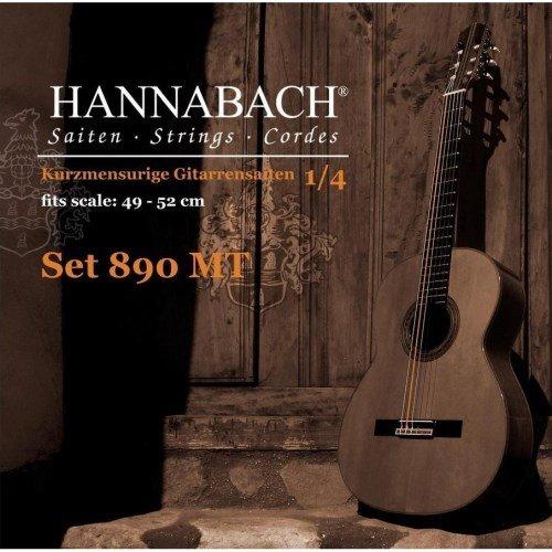 Hannabach Klassikgitarrensaiten Serie 890 1/4 Kindergitarre Mensur: 49-52cm - Satz