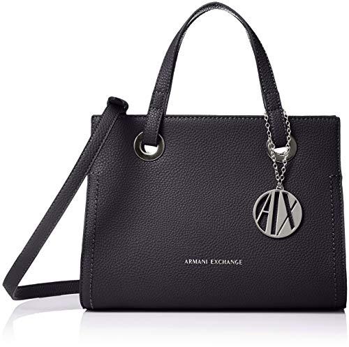 Armani Exchange Small Shopping Bag, Cabas femme, Bleu...