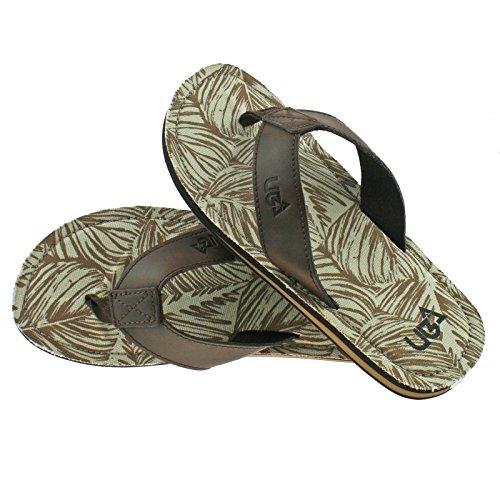 Urban Beach Herren Colorado Leather Flip Flops Zehentrenner, Choice of 3 Colours Braun (Brown)