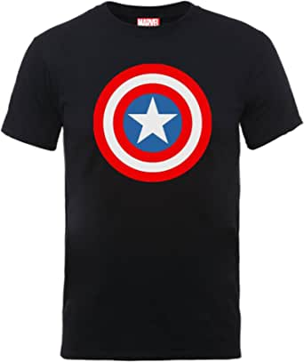 Marvel Avengers Assemble Captain America Simple Symbol T-Shirt Homme