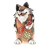 """Ceramics World art-030102 Spardose """"Katze mit Marienkäfer"""", Handarbeit, perfektes Geschenk für Kinder"""