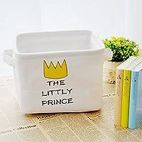 Preisvergleich für Yiuswoy Spielzeug Aufbewahrung Baumwolle Aufbewahrungskörben Faltbar Aufbewahrungsbox Kinderzimmer Aufbewahrungskiste - Krone