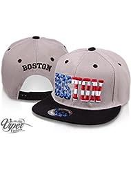 """Midi Shopping - Casquette Snapback Pas Cher Cap Hat Flatbrim """"Boston"""" CAP 39BOS"""