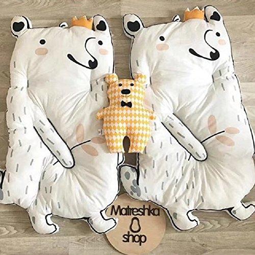 GRENSS Simanfei Baby Teppiche Superfine Soft Crawling Spiel Matten Kaninchen Tatami Neugeborene schlafen Klettern Bodenbelag, Bär (Kaninchen Willkommen-matte)