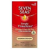Seven Seas Omega-3 Fish Oil with Cod Liver Oil Maximum Strength 60 Capsules