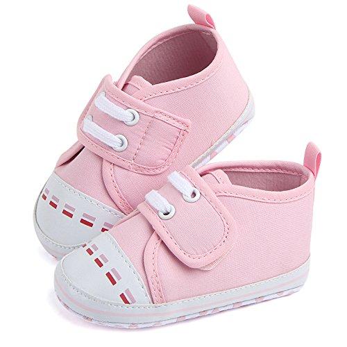 kingko® Baby Segeltuchschuhe rutschfeste Schneeschuhe rosa rotes Schwarzes Rosa