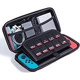 【idée cadeau de noël】Nintendo Switch Etui,QacQoc Version novelle de la Etui de Transport pour la Console Nintendo Switch, Jeux, Adaptateur Secteur Officiel et autres accessoires pour Nintendo Switch