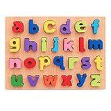 NPHOME Nombres Et Lettres en Bois Puzzle pour L'éDucation Et L'Apprentissage Puzzles Jouet