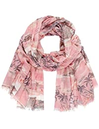 Pink printed scarf by Maison Scotch