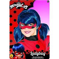 Ladybug Peluca complemento de disfraz infantil, talla única (Rubie's Spain 32929)