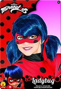 TF1licenze–I-32929–Parrucca Ladybug Miraculous,taglia unica