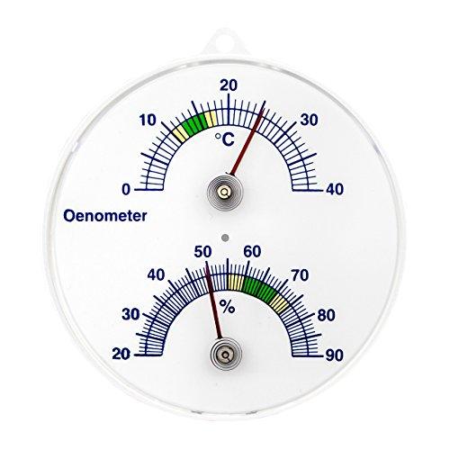 Weinkeller Wein Thermometer und Hygrometer . Bimetall Analog Önometer Weinthermometer