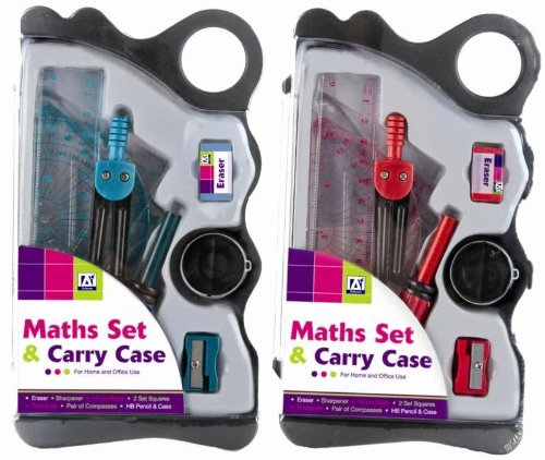MATHS SET & CARRY CASE BACK TO SCHOOL - 1 PACK