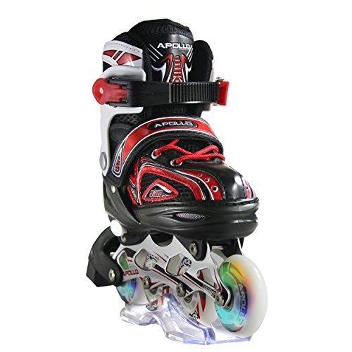 Apollo Super Blades X Pro, größenverstellbar von 31 bis 42, LED Inline-Skates, Rollerblades für Kinder, ideal für Anfänger, komfortable Rollschuhe, Inliner für...