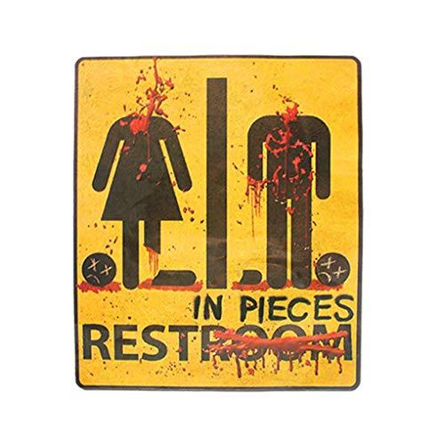 Lorsoul Cuarto de baño WC de Halloween Pared Puerta de Miedo Pegatinas Decoración, a Prueba de Agua, por Partido de Baile/Bar / KTV