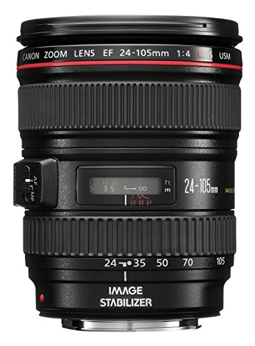 Canon EF 24-105mm f/4.0 L IS USM - Objetivo para Canon (distancia focal 24-105mm, estabilizador) color negro