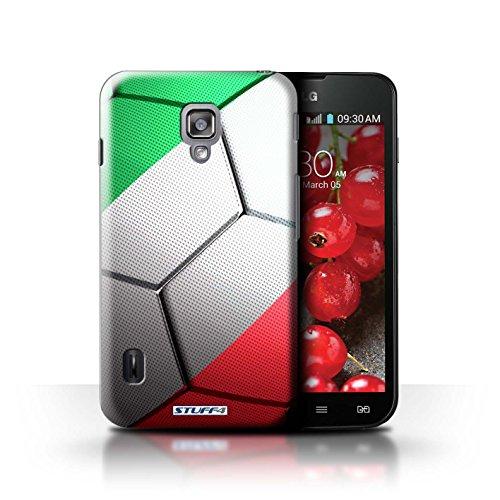 Kobalt® Imprimé Etui / Coque pour LG Optimus L7 II Dual / Portugal conception / Série Nations de Football Italie/Italien