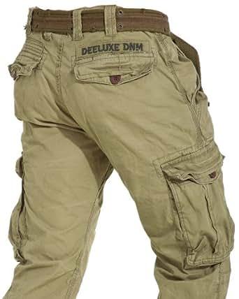deeluxe jeans pantalon cargo homme kaki d lav tendance. Black Bedroom Furniture Sets. Home Design Ideas