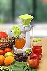SELL ON Premium Manual Hand Juicer Mixer Grinder with Steel Handle and Waste Collector (White)