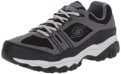 Skechers Sport ¨ Afterburn Grà ve Memory Foam Lace Sneaker Up Carbone/Nero