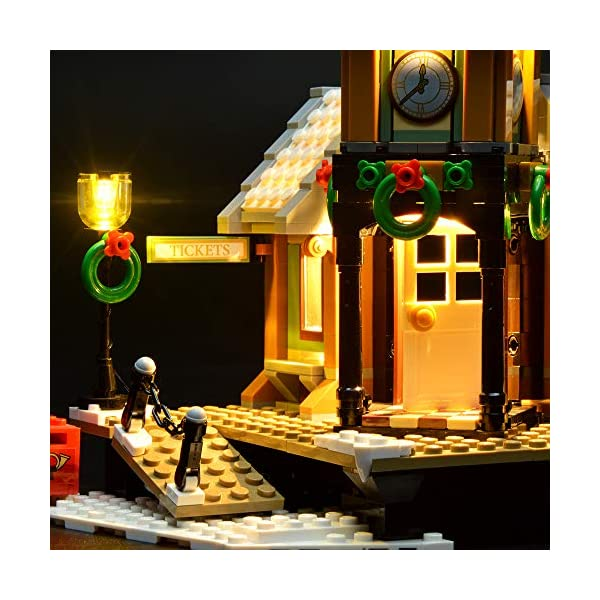 LIGHTAILING Set di Luci per (Creator Expert Stazione ferroviaria Invernale) Modello da Costruire - Kit Luce LED… 5 spesavip