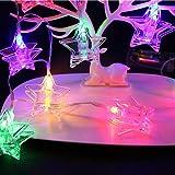 TAOtTAO Foto-Clips String USB-Leuchten, Sternförmige Clip Battery String Light, 20 LED (Mehrfarbig)