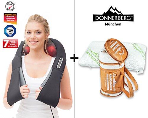 DAS Original Nackenmassagegerät Donnerberg® Set Massage Shiatsu Bambus Kissen (Schlaf-massage-stuhl)