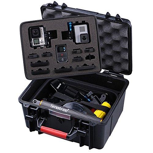 Smatree SmaCase GA700-2 Estuche de Materiales de ABS Duro Flotable / Resistente al Agua para Gopro Hero 6,5,4,3+,3,2,1(Cámara y Accesorios No Incluidos)