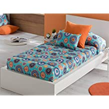 LaNovenaNube - Edredón Ajustable ITACA cama 80/90 - Color Malva