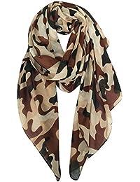 101f4ffc0321 DAMILY Echarpes - Foulard Légère de Voyage Camouflage Imprimer Châle Wrap