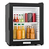 KLARSTEIN MKS-12 and 13 Mini Bar Refrigerator - Cooler, Fridge, 1 Shelf Rack, Reversible Door, Low Noise Level, Quiet Operation, Easy to Clean, Environmental Friendly, Black [Energy Class A]