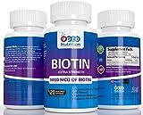 100% Natural Biotin 10000 MCG Capsules -...