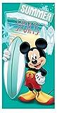 Le fantasie di casa Telo mare da bambino Topolino surf 70x140 100% cotone FRA538386. ASCIUGAMANO CON LICENZA