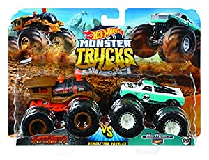 Hot Wheels Monster Trucks Demo Doubles 2-Pack Collection, Assorted Models