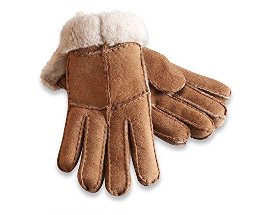Damen – Nordvek Handschuhe aus Schaffell mit echter Merino-Wolle