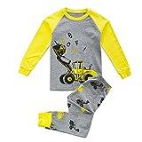 BINIDUCKLING Kleine Jungen-Traktor-Druck Pyjamas Sets Schlafanzüge