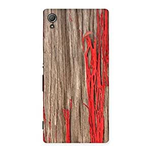 Ripped Wood Back Case Cover for Xperia Z3 Plus