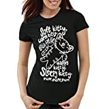 style3 Soft Kitty T-Shirt da Donna Penny, Colore:Nero, Dimensione:L